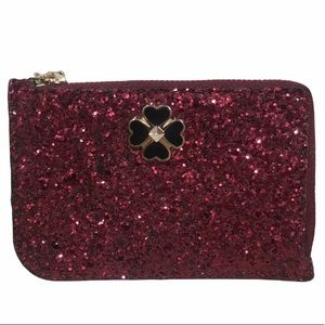 NWOT Kate Spade Red Sparkle Keychain Wallet